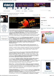 All About Jazz news 2012
